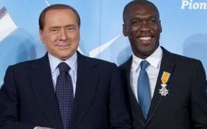 Silvio Berlusconi con Clarence Seedorf