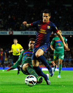 Christian Tello, attaccante del Barcellona.