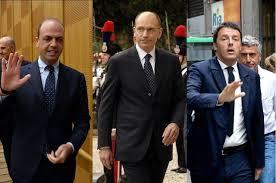 Alfano, Letta, Renzi