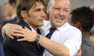 Antonio Conte e Giuseppe Marotta paiono non avere le stesse idee saul mercato della Juventus