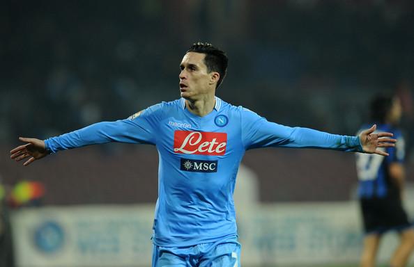 Josè Callejon, in gol ancora contro il Cagliari