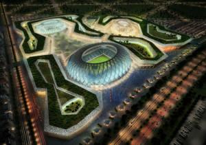 Qatar 2022, uno degli stadi preparati per il Mondiale