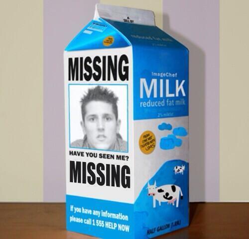 "La foto del ""missing"" Stevan Jovetic riprodotta sui cartoni del latte"