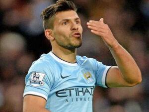 """Sergio """"El Kun"""" Aguero è rientrato dall'infortunio e ha segnato la rete del 4-0 contro il Blackburn."""