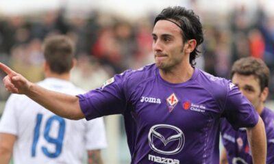 Alberto Aquilani in campo anche stasera con la maglia della Fiorentina.