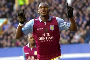 Benteke, attaccante dell'Aston Villa