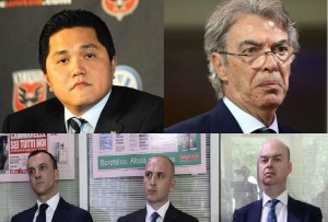 L'attuale dirigenza dell'Inter: Thohir, Moratti e la Triade di mercato