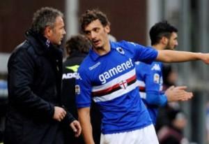 Gabbiadini in gol contro il Torino