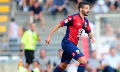 Gamberini con la maglia del Genoa
