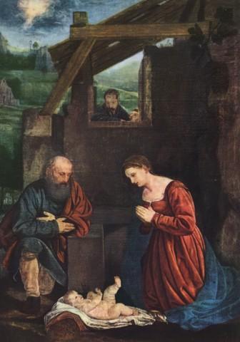"Giovan Girolamo Savoldo, ""Adorazione dei pastori"", Santa Maria la Nuova, Terlizzi."