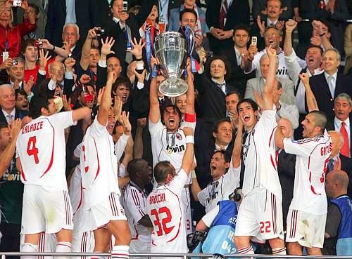 Nel 2007 il Milan vince la sua ultima Champions League.