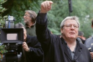 Alan Parker sul set