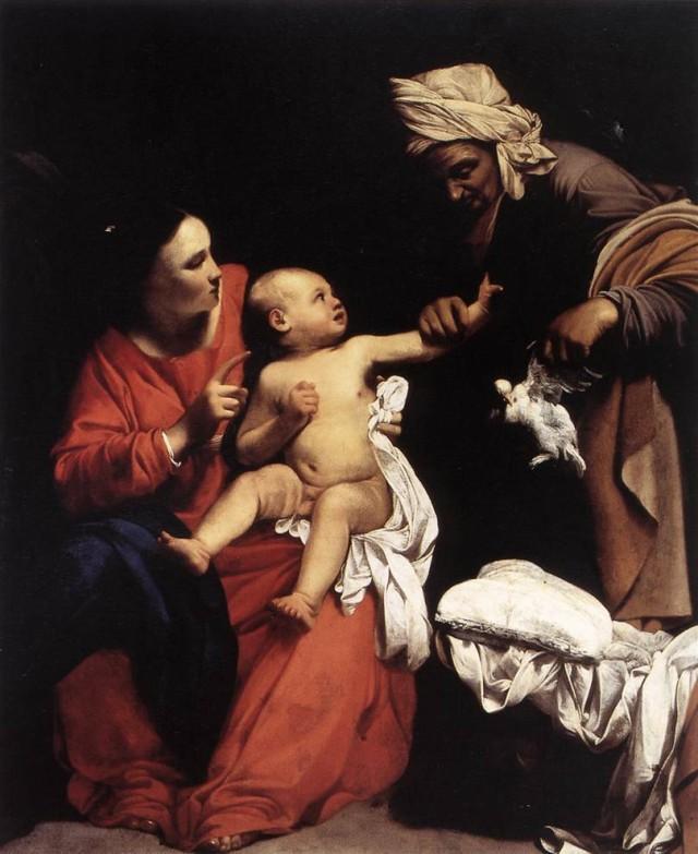 "Carlo Saraceni, ""Madonna col Bambino e sant'Anna""."