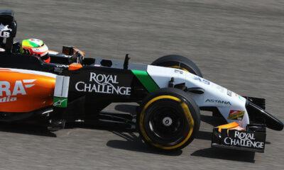 Sergio Mendoza Perez con la Force India