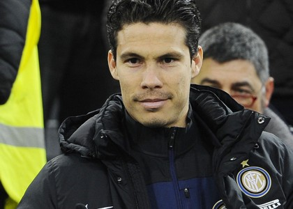 Hernanes con la maglia dell'Inter