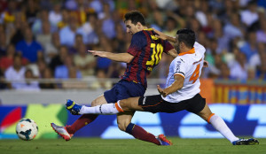 Uno dei tre gol che Messi fece in quel Valencia-Barcellona 2-3