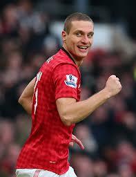Nemanja Vidic con la maglia del Manchester United