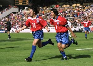 Ivan Zamorano e Marcelo Salas, due dei migliori giocatori della storia del Cile.