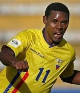 Agustin Delgado, uno dei migliori giocatori nella storia dell'Ecuador.