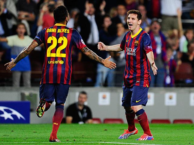 Dani Alves, Lionel Messi; protagonisti della Rimuntada del Barcellona a Villareal