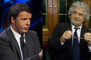 Renzi e Grillo, strade alternative per l'Europa