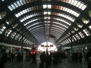 La stazione centrale di Milano.