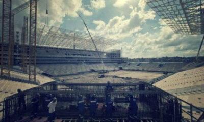 crollo stadio Brasile