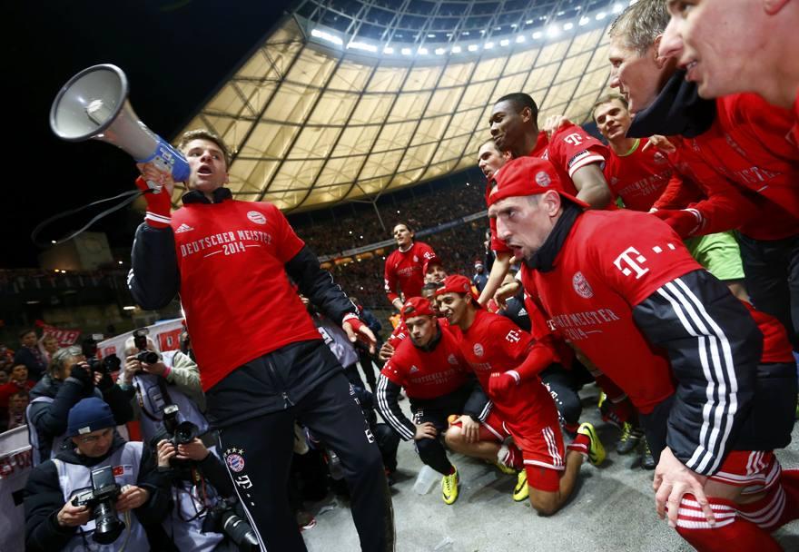 Il Bayern festeggia il titolo