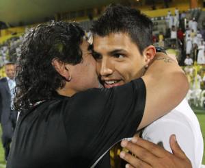 Aguero e Maradona, le stelle della nazionale argentina
