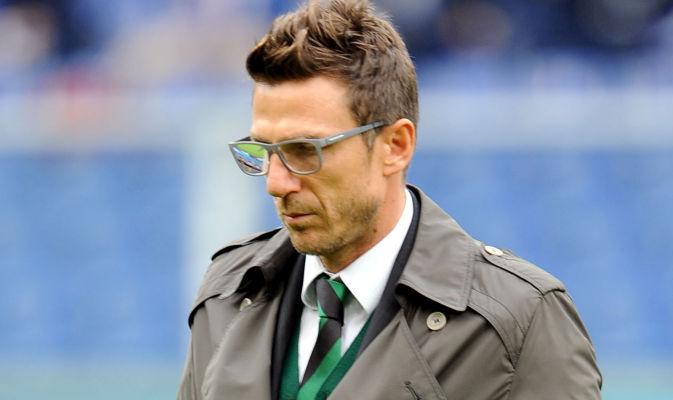 Eusebio Di Francesco, rammaricato per il pareggio sfortunato in Bologna-Sassuolo
