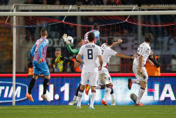Gonzalo Bergessio mette a segno il gol del pareggio