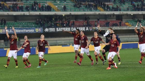 Chievo-Roma 0-2 gol di Gervinho e Destro