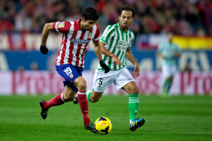 Diego Costa, l'attaccante dell'Atletico Madrid guiderà l'attacco dei Colchoneros nella sida contro il Betis Siviglia, valida per la 29esima giornata di Liga