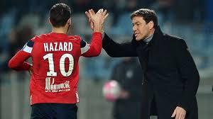 Eden Hazard e Rudi Garcia