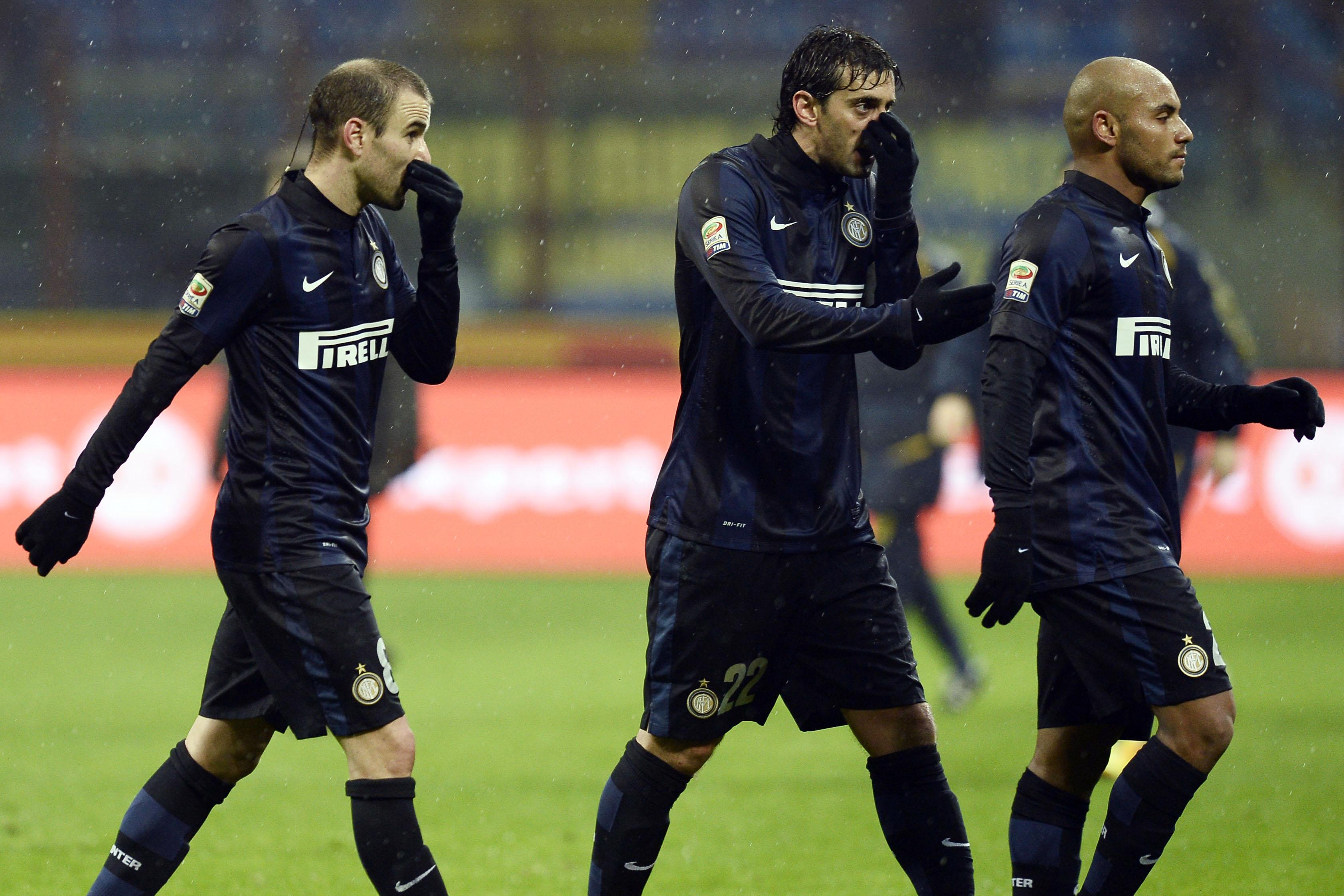 Inter-Udinese: la delusione dei giocatori nerazzurri