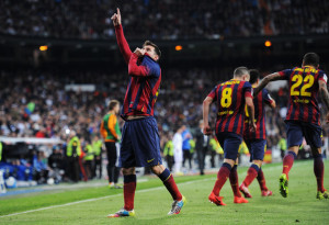 Spettacolo Messi al Bernabeu: tre gol ed un assist per lui