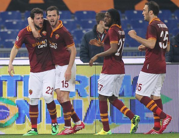 Roma-Torino, primo gol di Destro