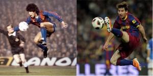 Messi e Maradona, le stelle di Barcellona e Argentina