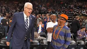 Phil Jackson con il fan numero uno dei Knicks, il regista Spike Lee