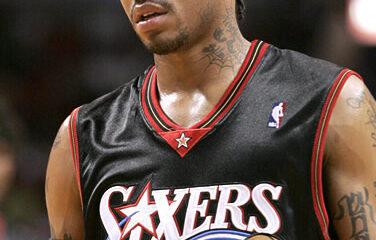 Allen Iverson, leggenda dei Philadelphia 76ers.