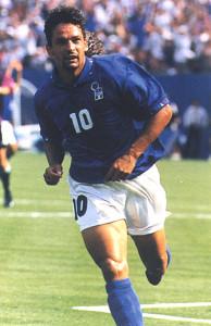 Roberto Baggio unico italiano nella classifica della Fifa.