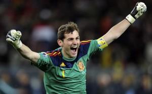 Iker Casillas con la maglia della Spagna