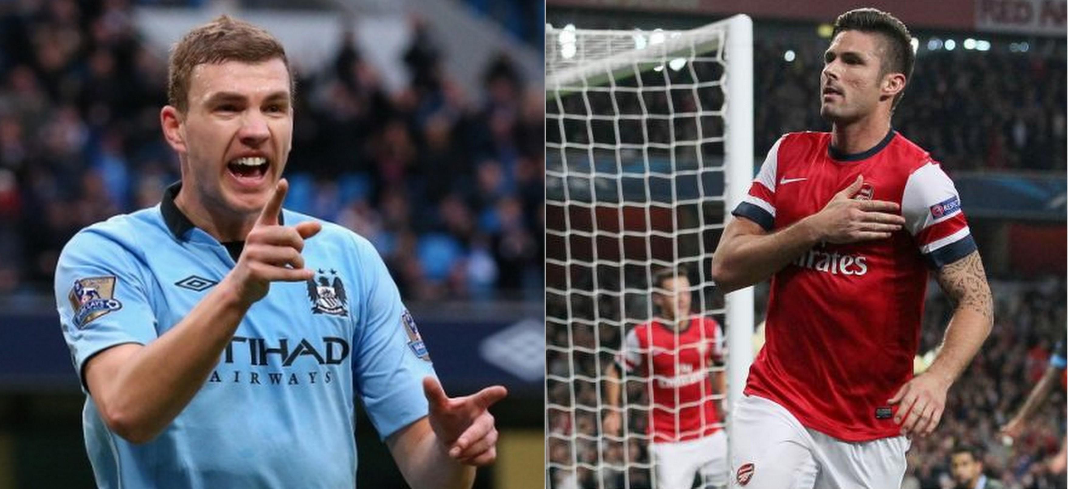 Dzeko e Giroud, bomber della Premier League