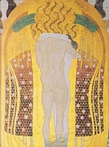 particolare del Fregio di Beethoven di Klimt