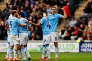 Premier League: Dzeko e Silva i protagonisti della vittoria dei Citizens