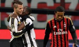 Il gol di Nico Lopez durante Milan-Udinese di Coppa Italia