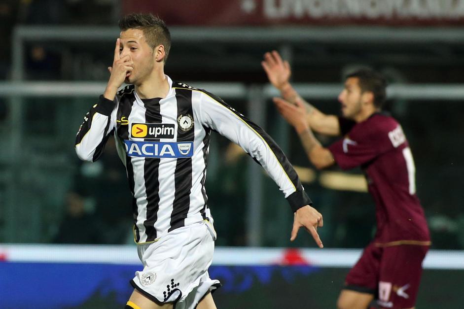 Nico Lopez, dopo un gol al Livorno