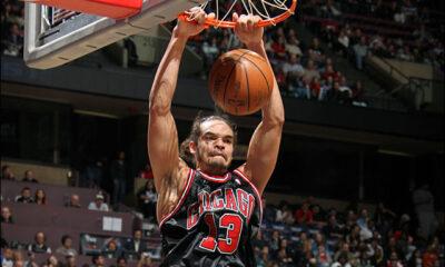 Joaquin Noah, m.v.p nella vittoria dei suoi Bulls contro i Miami Heat