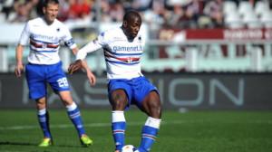 Okaka decisivo nella rimonta della Sampdoria sul Livorno.
