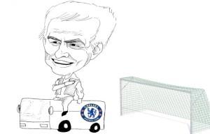 Jose Mourinho (caricatura di Simone Parisi)
